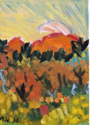 梅原龍三郎 《浅間山》 1973